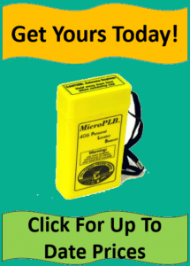 yellow locator beacon against turquoise background