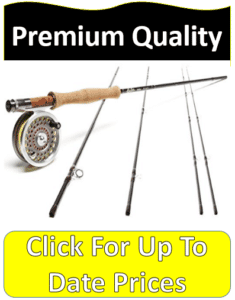 four piece disassembled fly fishing rod