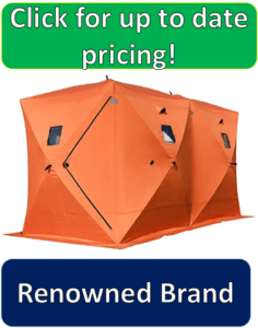 Tangkula orange 8 person ice fishing tent
