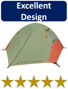 green and orange mountaineering tents