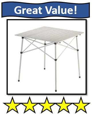 Coleman Compact Folding Table - best portable camping tables