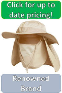 white khaki sun hat and coverings