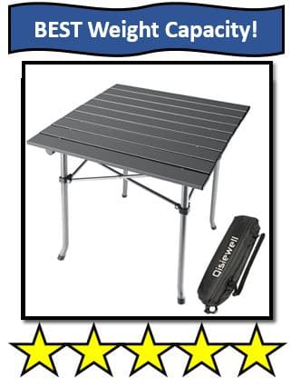 Qisiewell Aluminum Camping Table