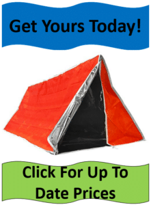 orange silver emergency tube pup tent