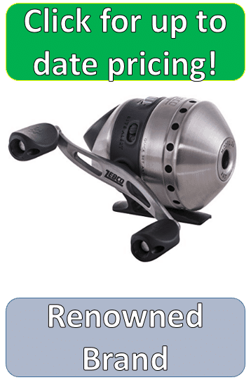silver zebco closed spincast reel pic