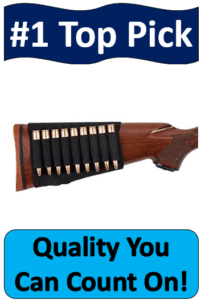 rifle buttstock shell holder with cartridges