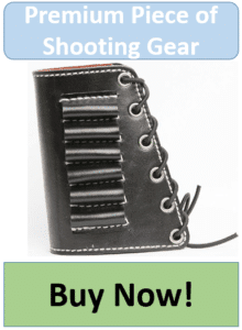 black leather rifle cartridge holder