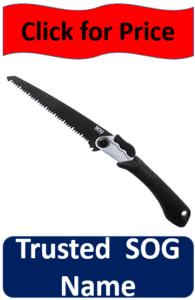 SOG black blade folding saw
