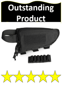 buttstock cheek rest with attachable cartridge holder