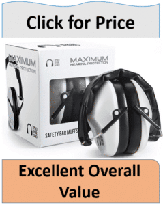 white protective shooting ear muffs