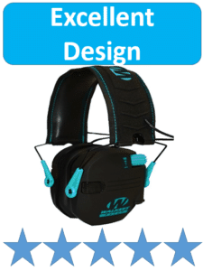 Walkers Razor black protective ear muffs for shooters