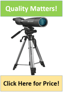 black Colorado spotter scope on silver tripod