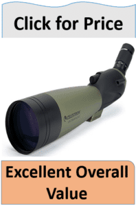 Large green black spotting scope