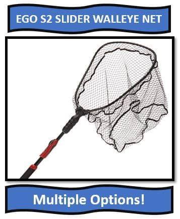 EGO S2 Slider walleye landing net