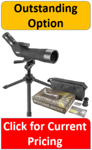 Mounted spotting scope with sidepack