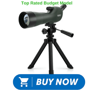 angled spotting scope for shooters on tripod