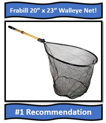 Frabill Walleye Fishing Net - Best Fishing Net for Walleye Fishing!