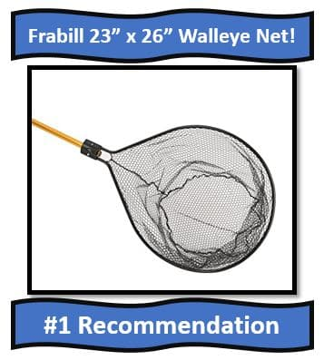 "Frabill 23"" x 26 Walleye Fishing net - best fishing net for walleye fishing"