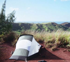 solo tent with beautiful outdoor view