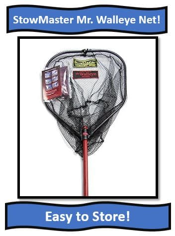 Stowmaster mr. walleye net - great walleye fishing landing net!