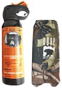 UDAP bear spray and camo holster