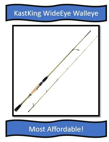 KastKing WideEye Walleye Fishing Rods - great choice