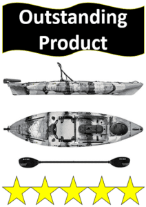 white and black sea ghost fishing kayak