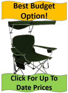 folding camping chair with shade