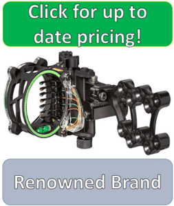 black seven pin hunting compound bow sight
