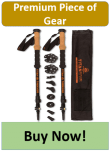 carbon fiber hiker poles with accessories