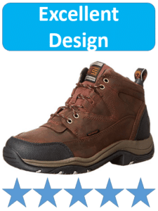 copper colored Ariat hiking boots