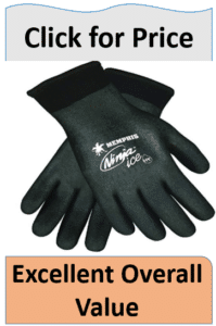 black double layered fishing gloves