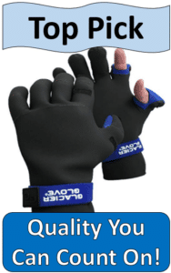 glacier glove neoprene ice fishing gloves
