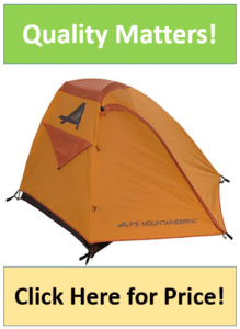 orange ALPS Mountaineering Zephyr tent
