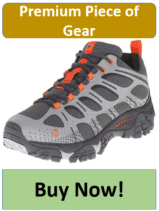 gray and black hiking shoe