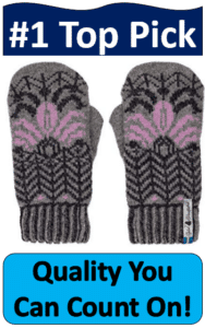 hand knit Swedish mittens
