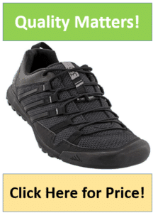 black outdoor running shoes