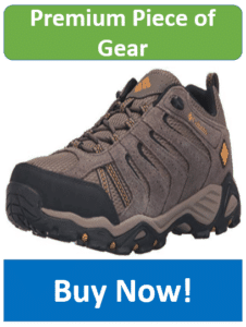 gray Columbia hiking shoe