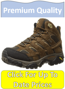 brown Merrell Moab hiking boots