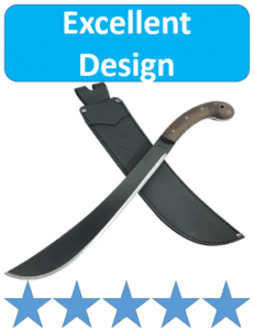 wood handle Condor machete with sheath