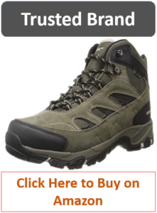 gray brown Hi-Tec mens hiking boots
