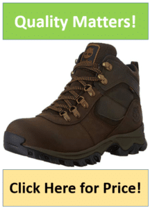 brown leather Timberland hiking boots for men