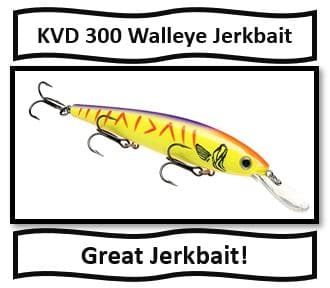 KVD 300 Walleye JerkBait - Best Walleye Fishing Lures new for 2019