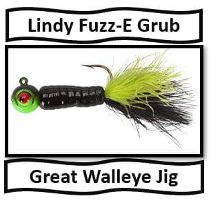 Lindy Fuzz-E Grub - Best Walleye Fishing Jigs