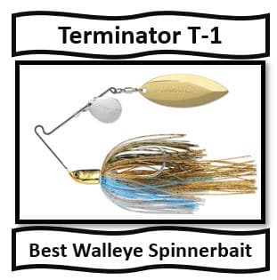 Terminator T-1 Spinnerbait - best walleye spinnerbait