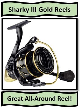 The KastKing Sharky III Gold Spinning Reels