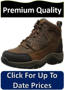 brown and black leather hiking boots