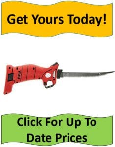 Bubba Li red handle electric fillet knife