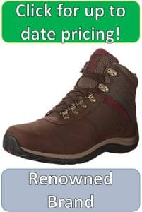 brown womens hiking boot