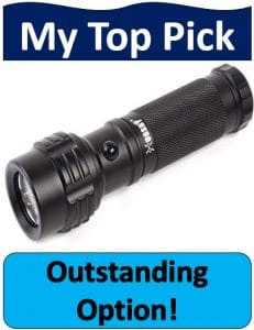 black Welltop three color flashlight